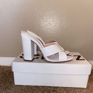 White mule sandal